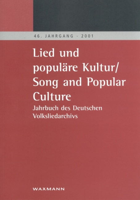 Lied und populäre Kultur/Song and Popular Culture 46 (2001)