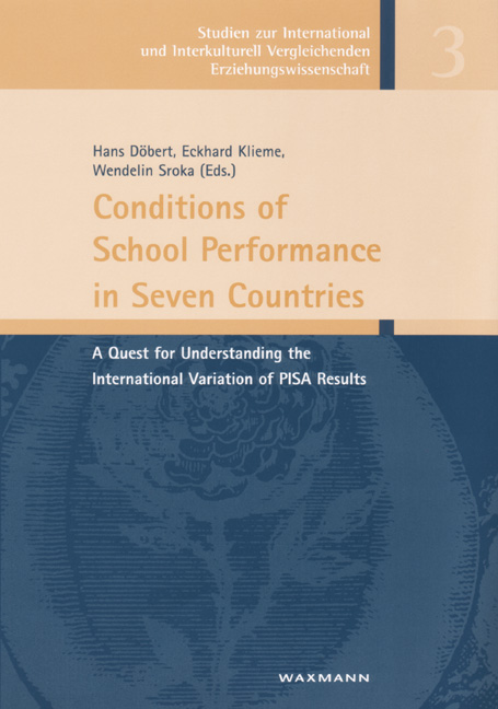 Conditions of School Performance in Seven Countries