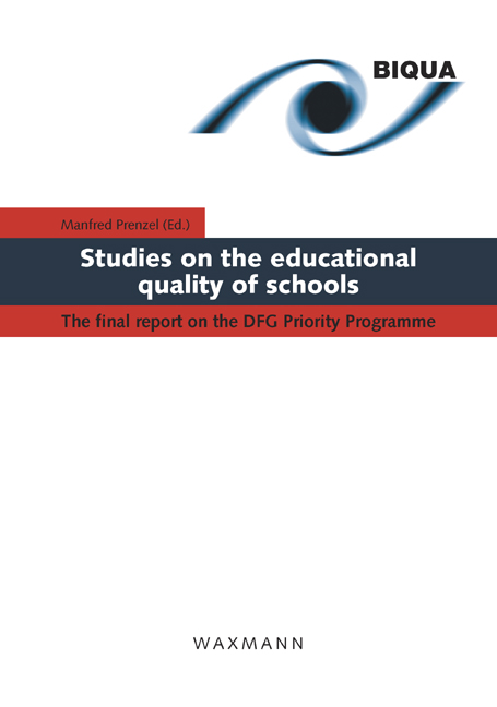 Studies on the educational quality of schools