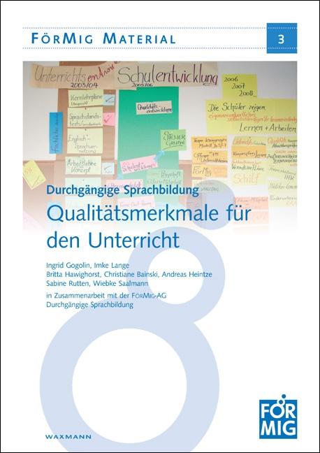 Durchgängige Sprachbildung. Qualitätsmerkmale für den Unterricht