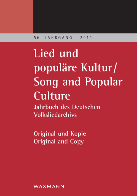 Lied und populäre Kultur – Song and Popular Culture 56 (2011)