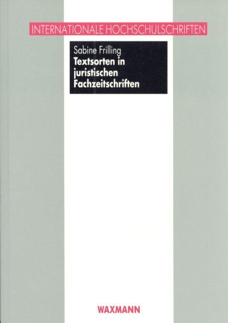 Textsorten in juristischen Fachzeitschriften