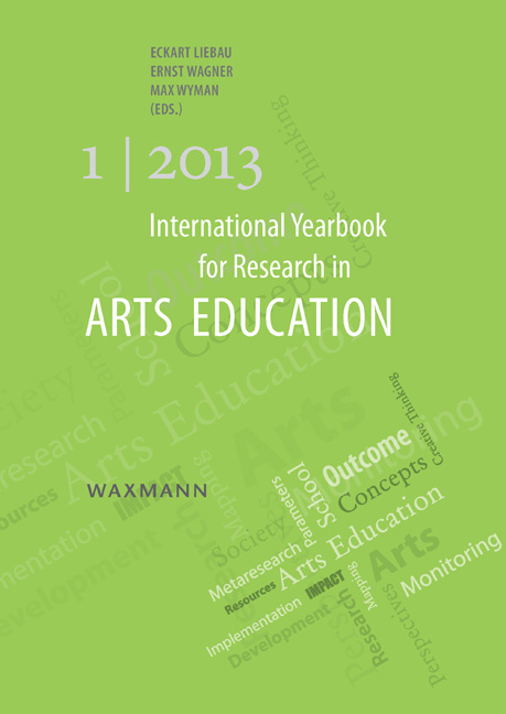 International Yearbook for Research in Arts Education 1/2013