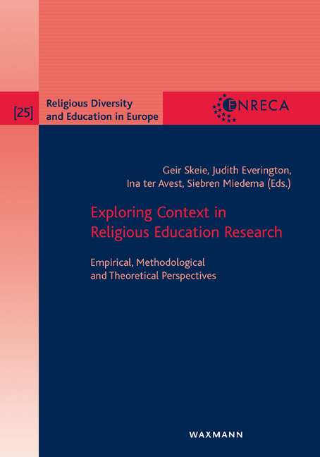 Exploring Context in Religious Education Research
