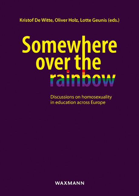 Somewhere over the rainbow<br />discussions on homosexuality in education across Europe