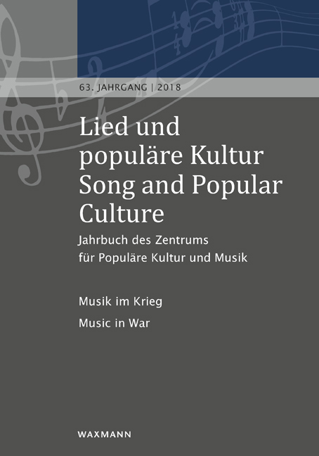 Lied und populäre Kultur / Song and Popular Culture 63 (2018)