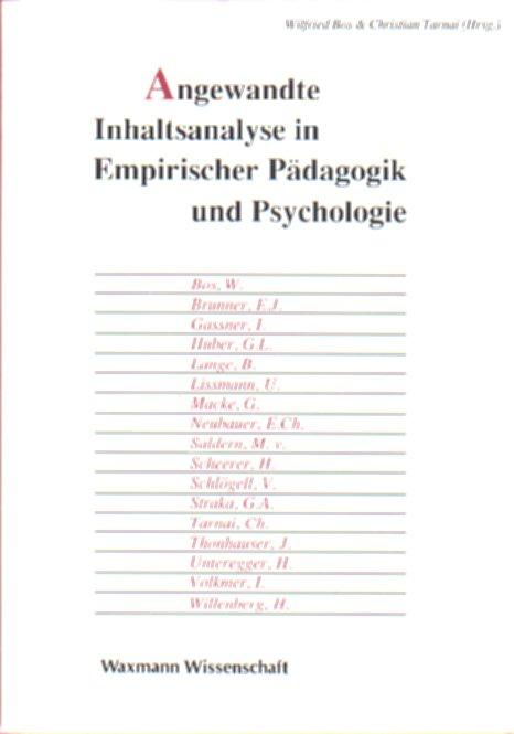 Angewandte Inhaltsanalyse in Empirischer Pädagogik und Psychologie