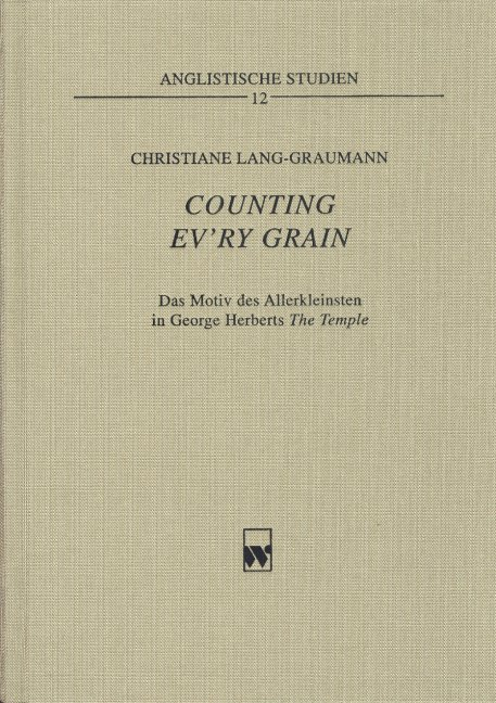 Counting ev'ry grain