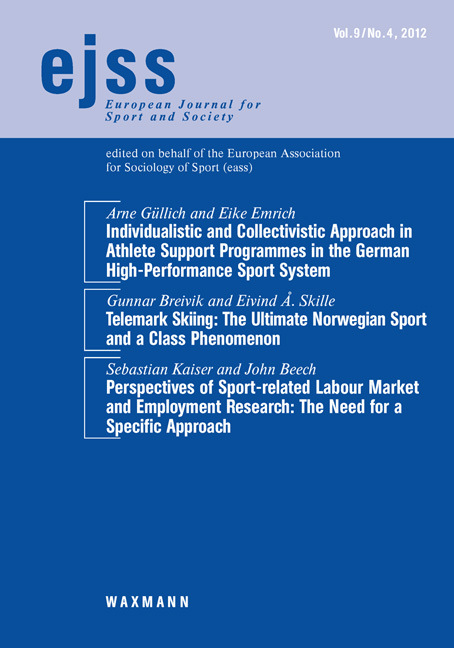 Individualistic and Collectivistic Approach in Athlete Support Programmes in the German High-Performance Sport System