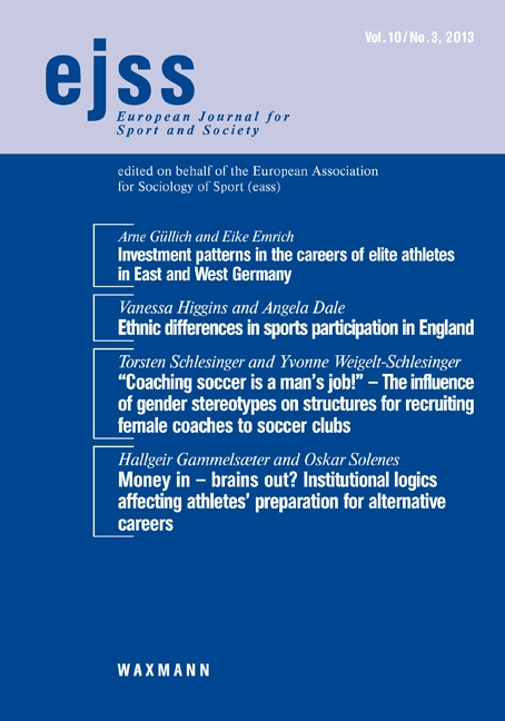 Investment patterns in the careers of elite athletes in East and West Germany