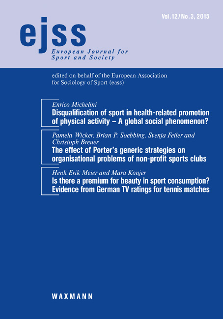 ejss - European Journal for Sport and Society