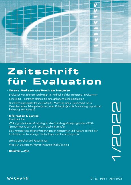 Wege zur Professionalisierung: Masterstudiengang Evaluation